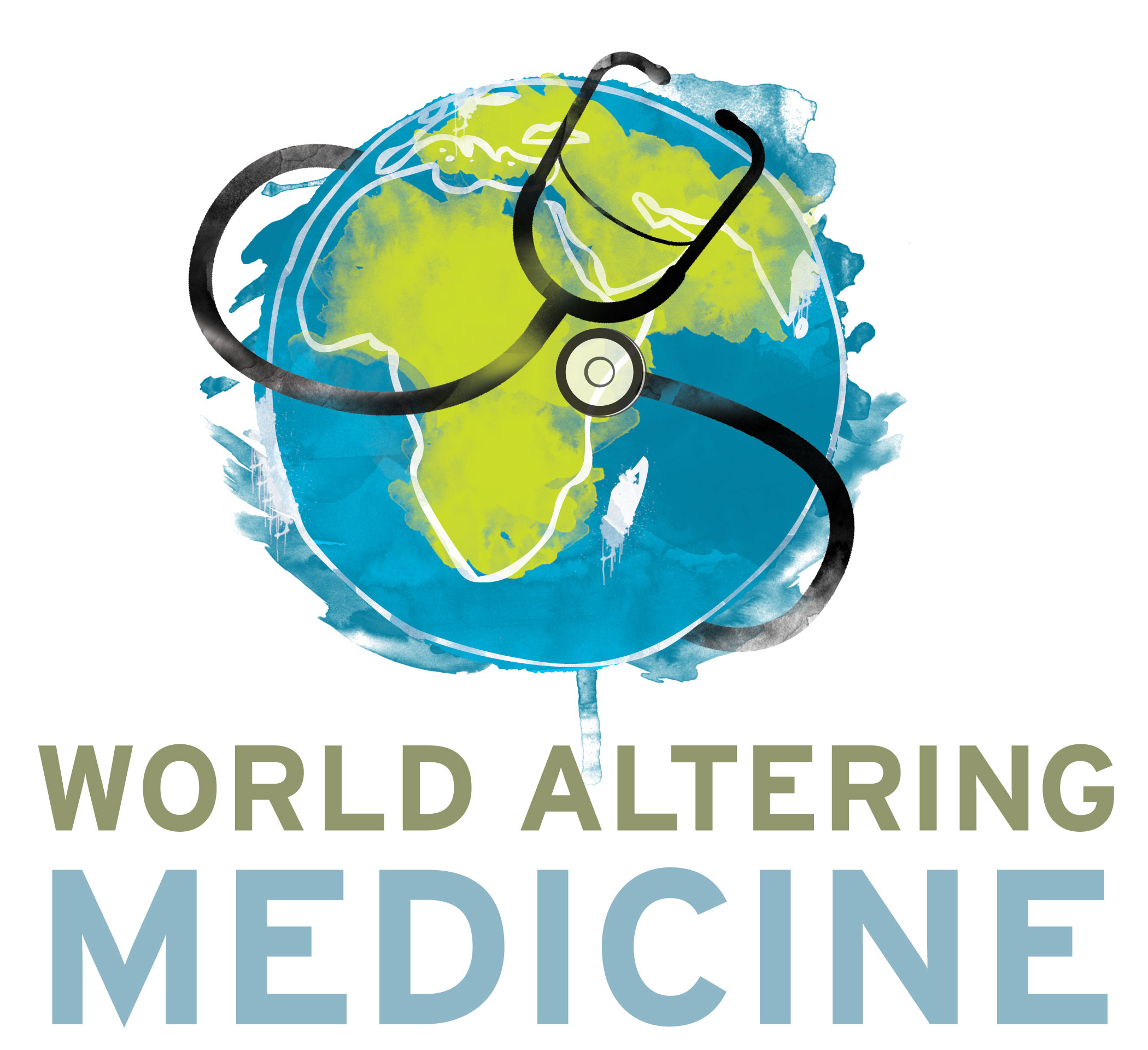 World altering medicine logo