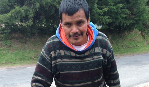 Photo of Roberto post-operation