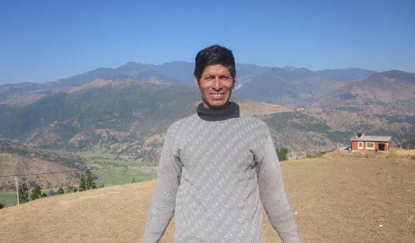 Photo of Jay Bahadur post-operation