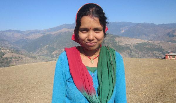 Photo of Dila Devi post-operation