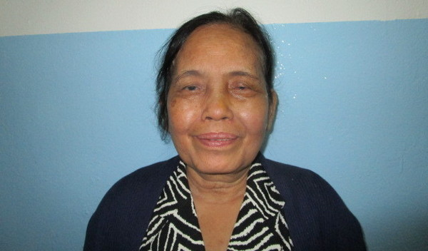 Photo of Pun Theary post-operation