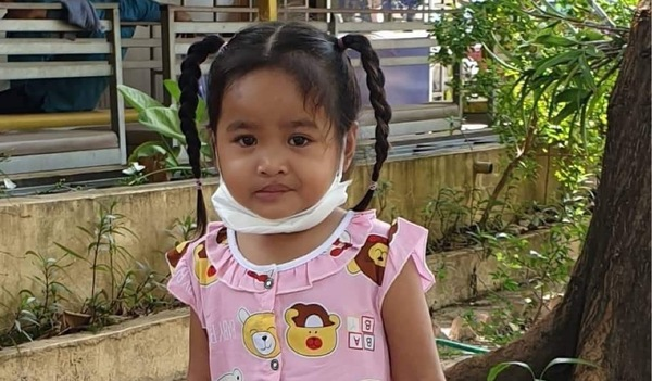 Photo of Sethika post-operation