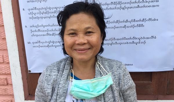Photo of Naw Ree post-operation