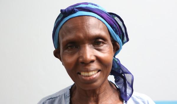Photo of Deborah post-operation