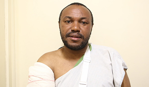 Photo of Antony post-operation