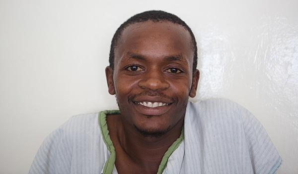 Photo of Jeremiah post-operation