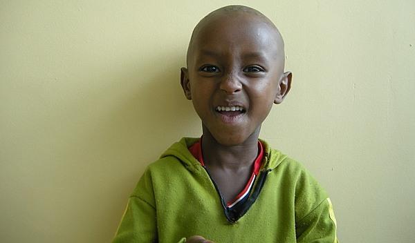 Photo of Hamza post-operation