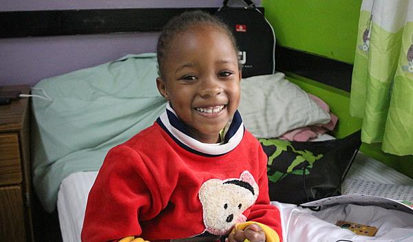 Photo of Stephanie post-operation