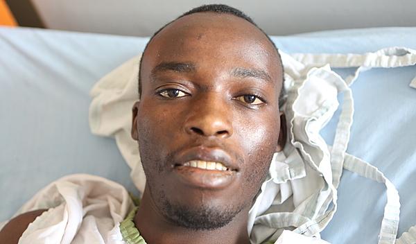 Photo of William post-operation