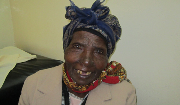 Photo of Esther post-operation